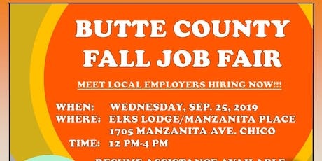 Butte County Job Fair! entradas