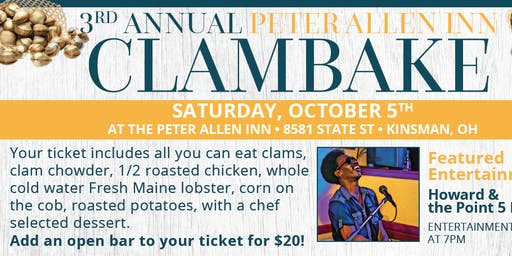 Annual Clambake at PAI with Howard and Point Five Band