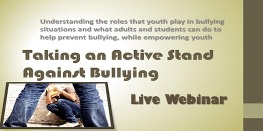 Taking an Active Stand Against Bullying
