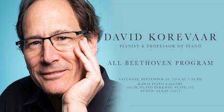 All Beethoven Recital by David Korevaar tickets
