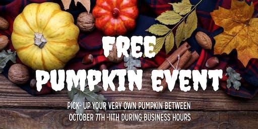 Free Pumpkin Pick-up