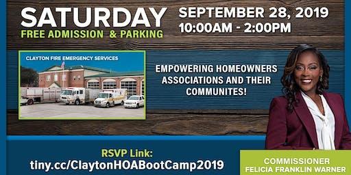 3rd Annual Clayton HOA Boot Camp