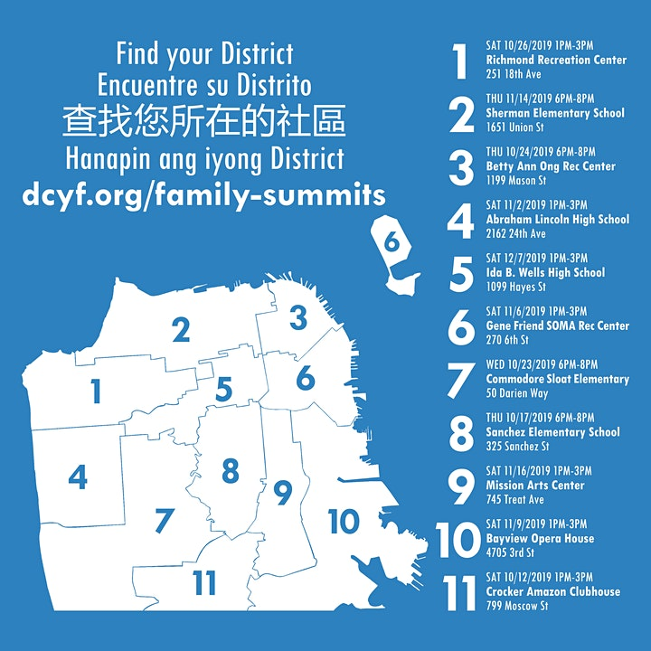 We are the City: District 1 Family Summit image