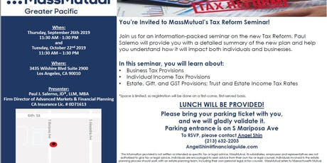 MassMutual's Tax Reform Seminar tickets