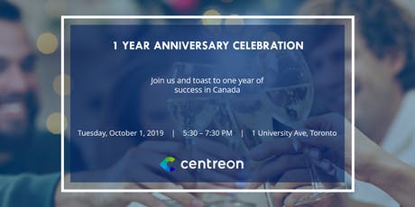 Join Us: Centreon Celebrates 1 Year in Canada tickets