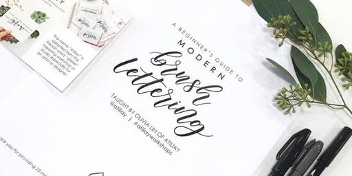 Beginners Brush Lettering Workshop - Long Beach