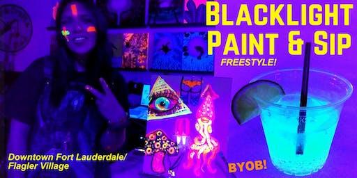 BLACKLIGHT Freestyle Painting during ARTWALK