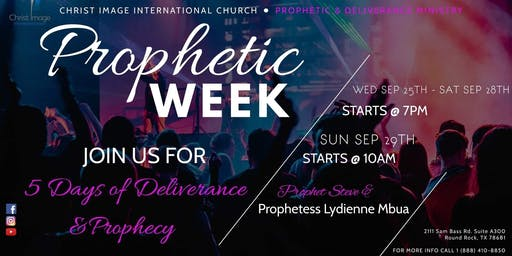 Christ Image International Church Prophetic Weekend