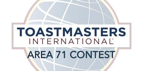 Toastmasters Area 71 Speech Contest tickets