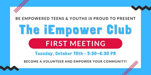 The iEmpower Club - First Meeting!