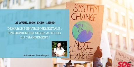 Démarche environnementale : entrepreneur, soyez acteurs du changement ! billets