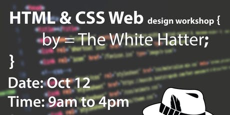 HTML & CSS Web Design- The White Hatter Teen Coding Academy tickets