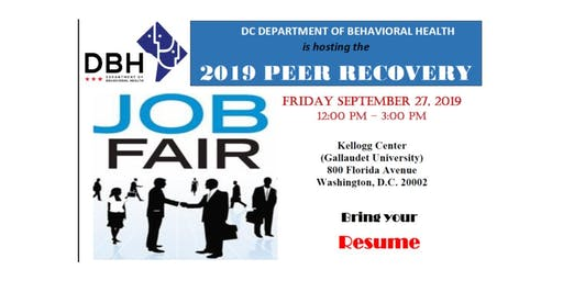 DBH 2019 Peer Recovery Job Fair