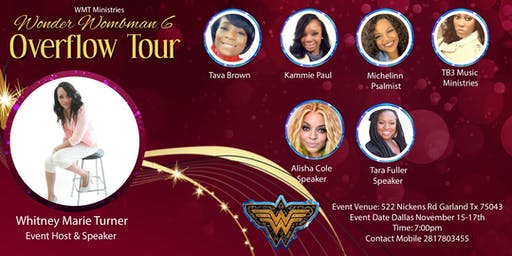 WMT Wonder Wombman Overflow Tour 2019