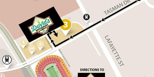 DAVID'S GAMEDAY (Includes Parking), 49ers VS Browns -Oct 7.- YELLOW LOT