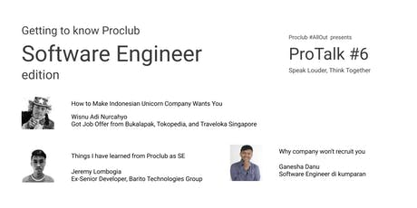 ProTalk #6: Getting to know Proclub - Software Engineer Edition tickets
