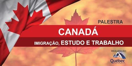 PALESTRA SÃO LEOPOLDO - Imigração Canadense - ESTUDE, TRABALHE E EMIGRE! ingressos