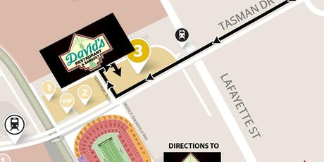 DAVID'S GAMEDAY (Includes Parking), 49ers VS Panthers -Oct 27. - YELLOW LOT tickets
