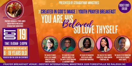 CREATED IN GOD'S IMAGE | YOUTH PRAYER BREAKFAST tickets