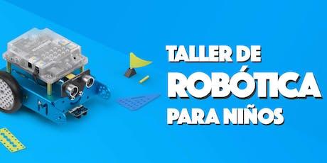 Taller de robótica boletos