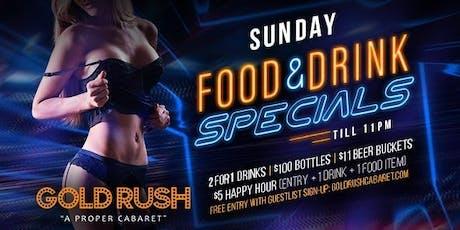 Gold Rush Sundays at Gold Rush Cabaret Guestlist - 10/20/2019 tickets