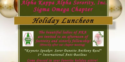 Alpha Kappa Alpha Sorority Inc. Sigma Omega Chapter Holiday Luncheon