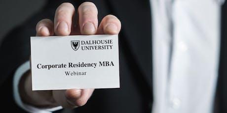 Dalhousie University Corporate Residency MBA Webinar tickets