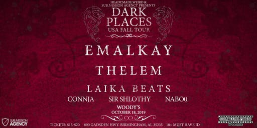 HMW Presents: Bass Therapy 086- Dark Places Tour ft. Emalkay