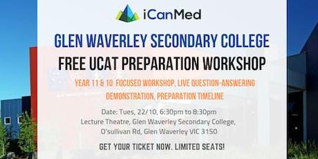 Year 11 & 10 UCAT Workshop (Glen Waverley Secondary College Exclusive) tickets