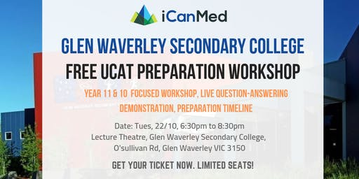 Year 11 & 10 UCAT Workshop (Glen Waverley Secondary College Exclusive)