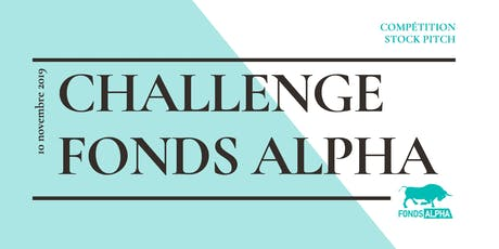Challenge Fonds Alpha 2019 billets