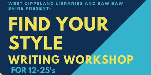 FIND YOUR STYLE- Writing Workshop with Author Nans