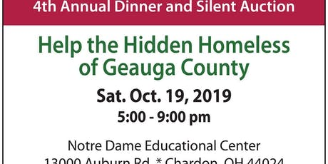 Geauga Faith Rescue Mission's 4th Annual Dinner & Silent Auction tickets