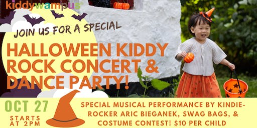 Halloween kiddyROCK Concert and Dance Party at kiddywampus!