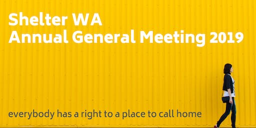 Shelter WA Annual General Meeting