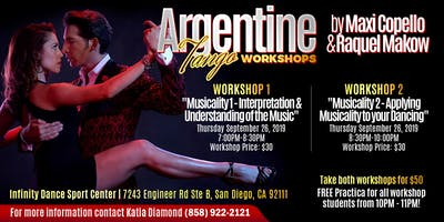 Maxi Copello & Raquel Makow Workshops + Practica in San Diego!