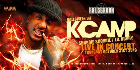 K CAMP, SHORDIE SHORDIE, LIL BLURRY @ The Pressroom tickets
