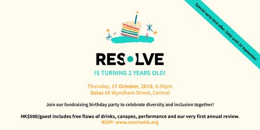 Resolve's Fundraising Birthday Party