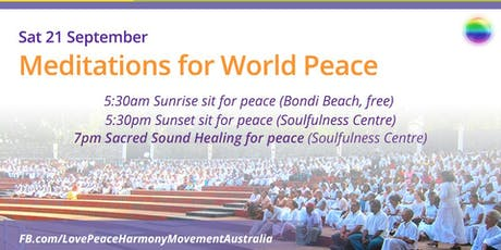 Meditate for World Peace Day tickets