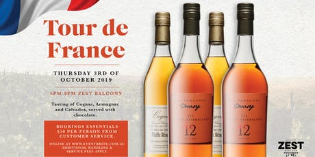 Tour de France, Cognac, Armagnac and Calvados tasting night tickets