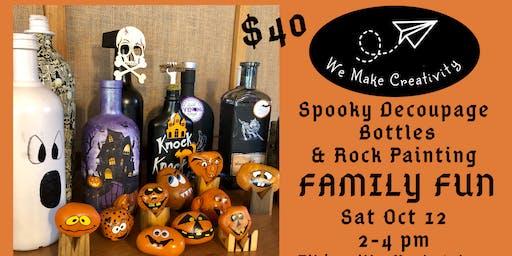 Spooky Bottles & Spooky Rocks - Family Fun Day