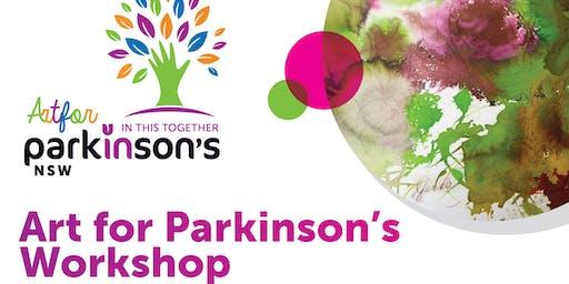 Art for Parkinson's Workshop - Sans Souci 29 Nov