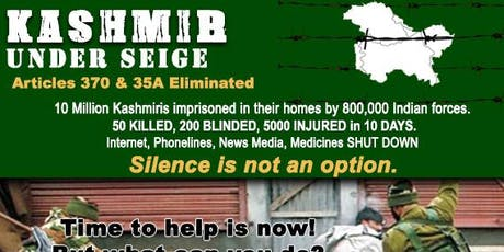 Kashmir Under Siege: Silence is not an Option tickets