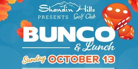 FALL Bunco at Shandin Hills- Vendor tickets
