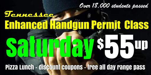 Sat. Handgun Carry Permit Class w/Pizza & Free Range Pass