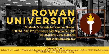 ROWAN UNIVERSITY Student & Parents Information Session tickets