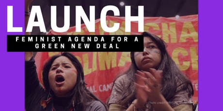 Launch of the Feminist Agenda for the Green New Deal tickets