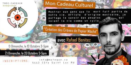 Troc-Cadeaux: Création des Crânes de Papier Mâché avec Rafael Benitez