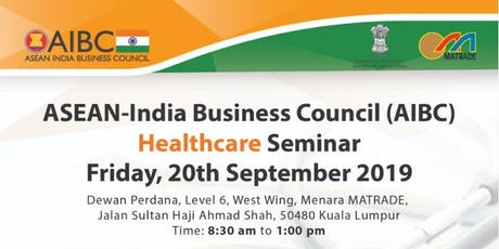 Tapping on Healthcare Opportunities in ASEAN and India tickets