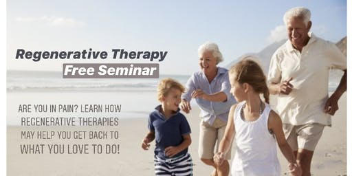 Regenerative Therapy Seminar at Iron Oaks Country Club 9/24